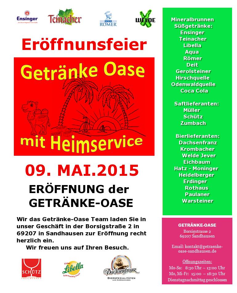 Getränkemarkt (@oase_sandhausen) | Twitter