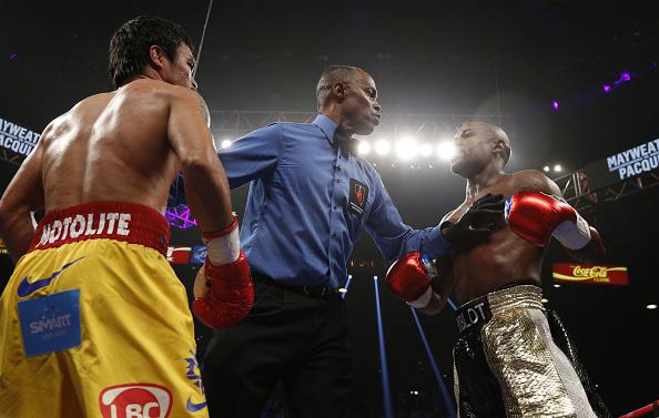 Stephen A. says @FloydMayweather just sent him a text that he will give @MannyPacquiao another shot in a year. http://t.co/FUo9EEfb4U