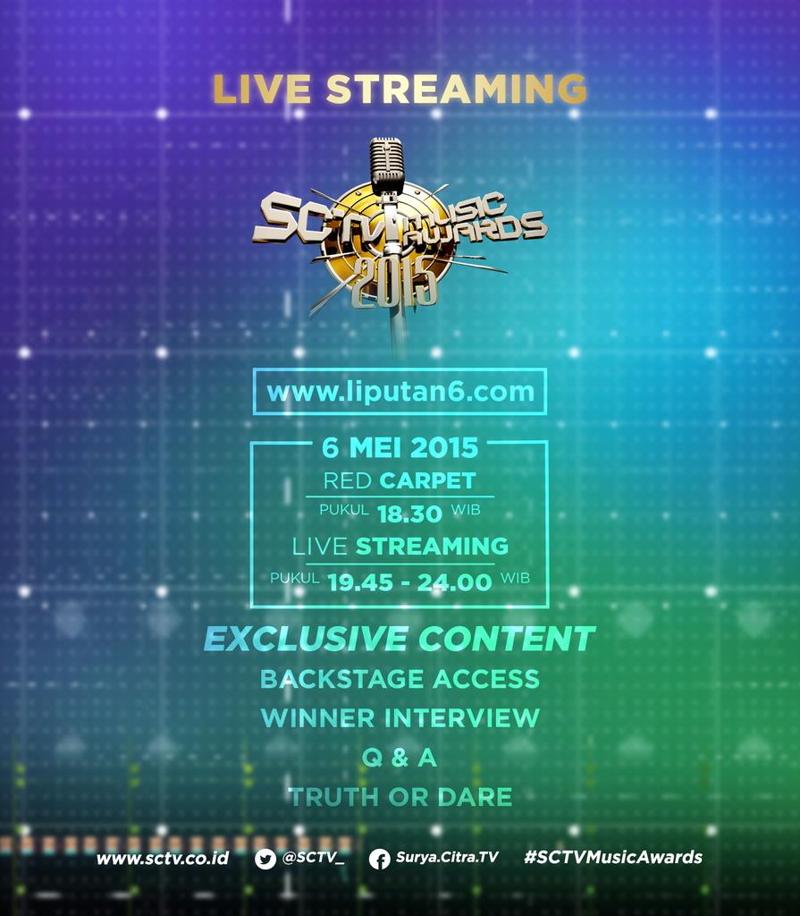 "Live Streaming Sctv: SCTV On Twitter: ""Live Streaming #SCTVMusicAwards Dengan"