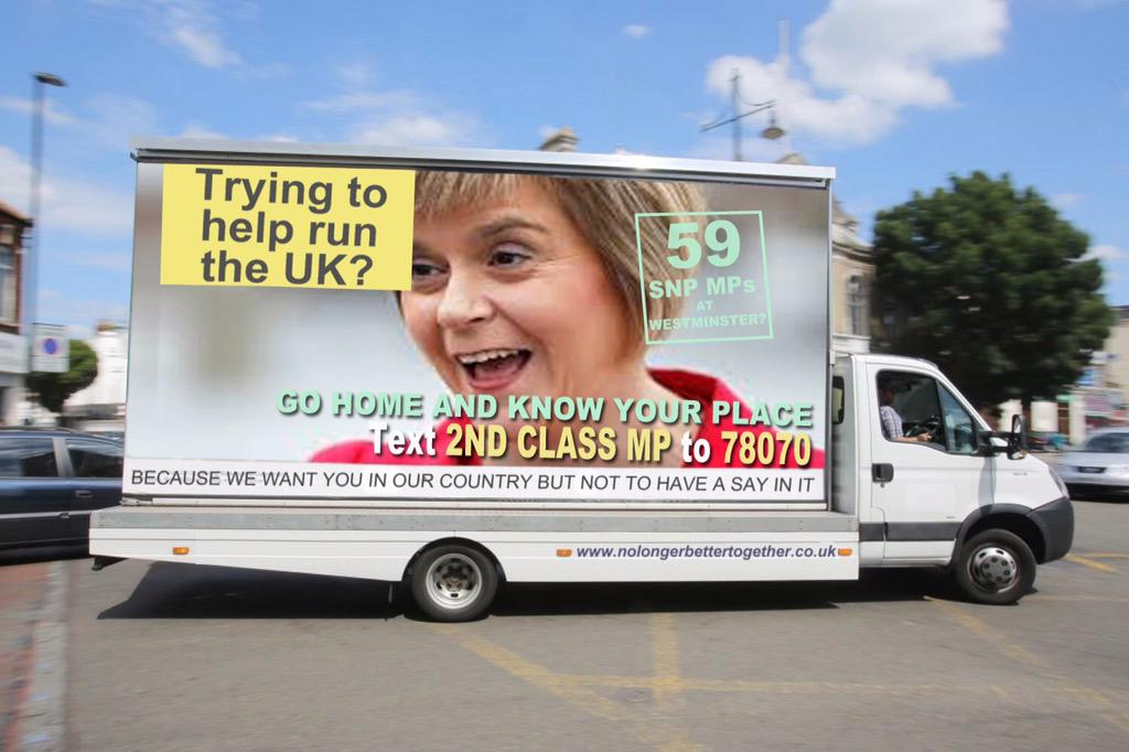 Looks like the Tories have resorted to those vans again. #GE2015 http://t.co/1VSbSlmZsB