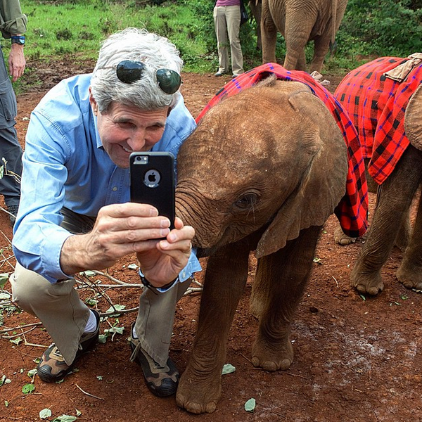One day in Kenya you are taking selfies with baby elephants, the next day you are walking past elephant tusks: http://t.co/mAOtAtxCzk