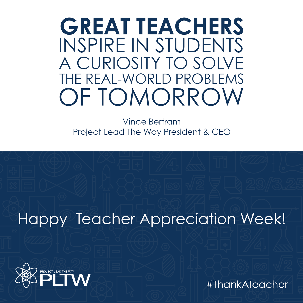"""Great #teachers inspire in students a curiosity to solve the real-world problems of tomorrow."" #ThankATeacher http://t.co/ZMrHseiipf"