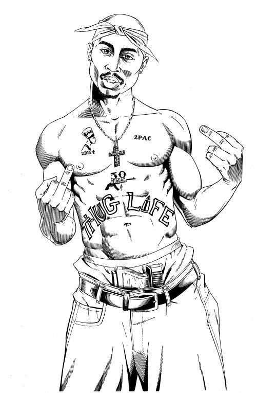 2pac Drawings Coloring Pages