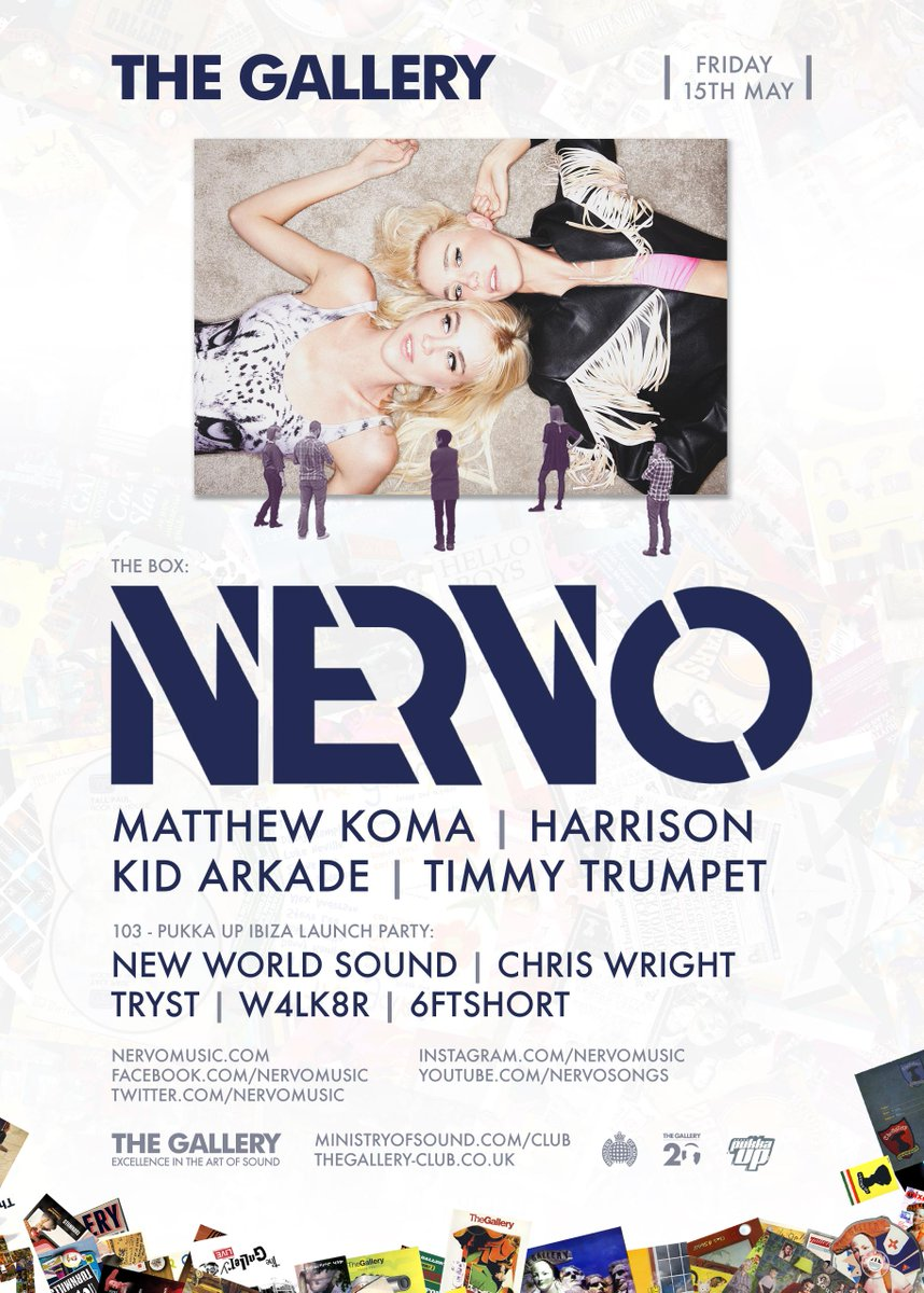 Excited to welcome @nervomusic on Fri May 15 at @ministryofsound! http://t.co/zYlkDPaQzB
