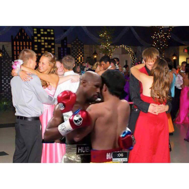 Best dance couple at the prom this weekend .. award goes to.... #PacquiaoMayweather  #mayweather http://t.co/WnoAR7uXBJ