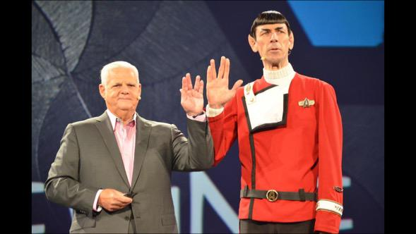 "Joe Tucci joined at EMC World with Mr Spock to close out Federation keynote. "" Live long and prosper"". http://t.co/0e5vvIHDZY"