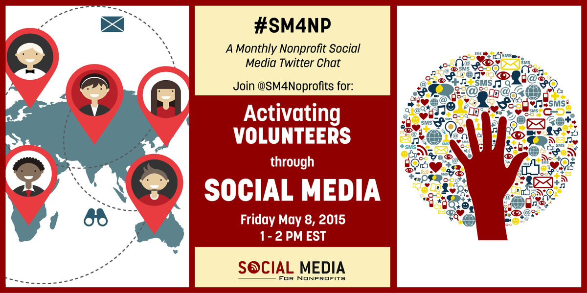 How to Activate Volunteers thru Social Media? Meet on Twitter to talk at #SM4NP: http://t.co/Z1O4DrRYLZ Fri 1p EST http://t.co/MGAgkfkoqc