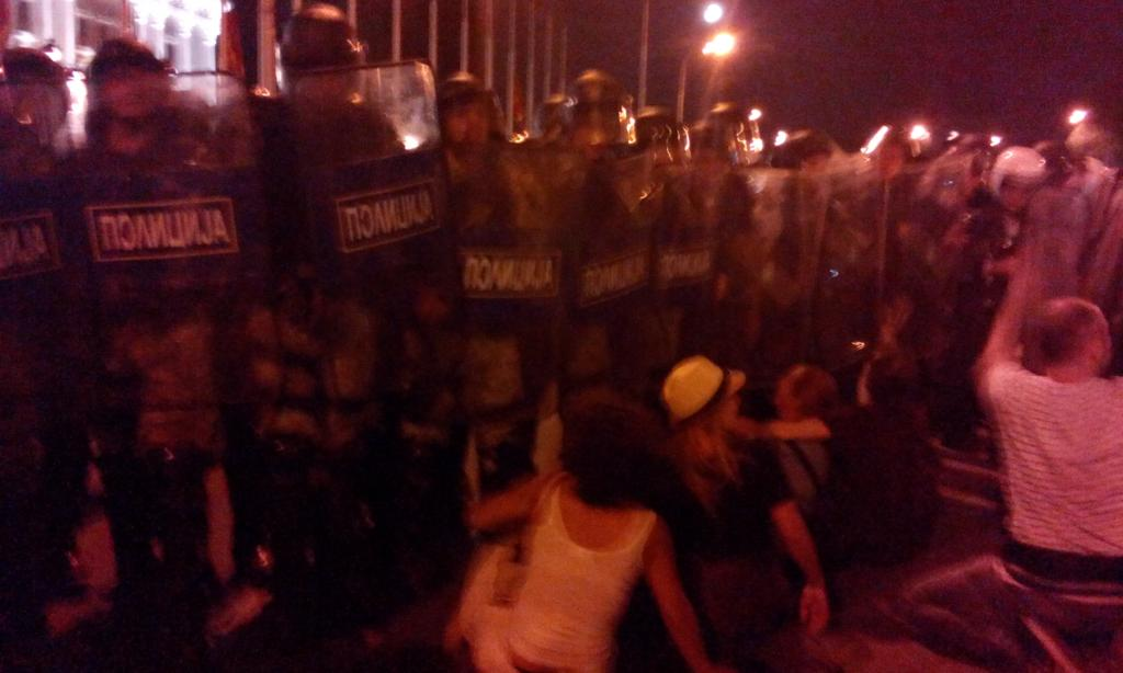 Sit in. Arms raised. And they pushed to clear. #протестирам http://t.co/aWdjT0AFBq