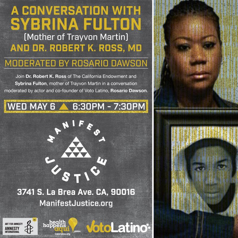 Tomorrow night @ #ManifestJustice, discussion w/ @SybrinaFulton & Dr. Robert Ross, moderated by @rosariodawson http://t.co/x9cnN3Y3CC