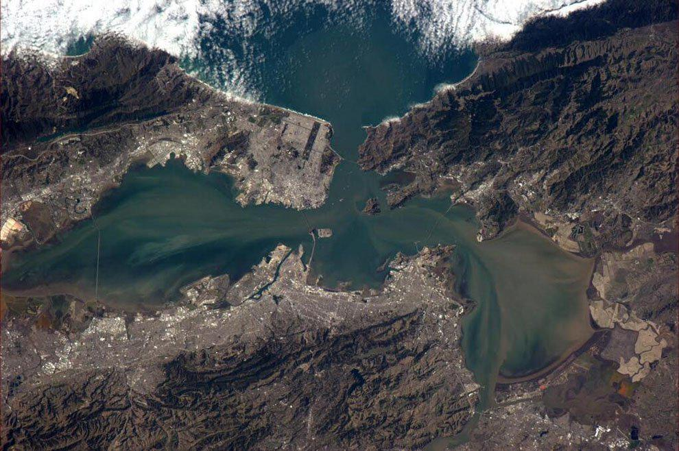 San Francisco Bay Area as viewed from International Space Station http://t.co/qFEaQvDsSn