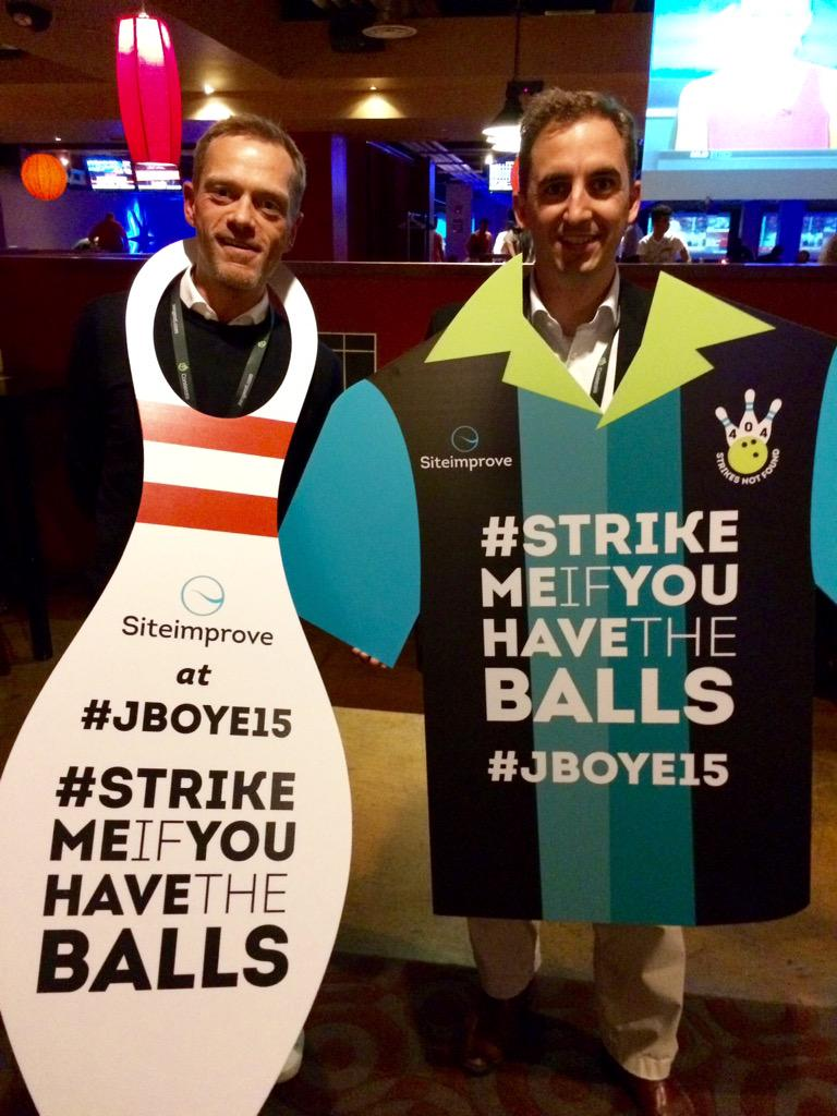 Ready for bowling at #jboye15 http://t.co/6eeAIg0O5d