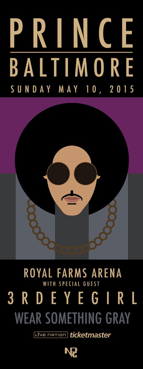 holy shit, Prince doing a special concert in Baltimore on Sunday http://t.co/1K68iFHVNL