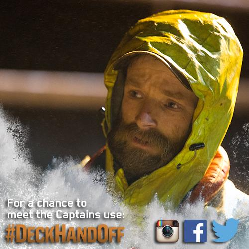 Retweet or use #DeckHandOff for a chance to win a trip meet the Captains in Dutch Harbor. http://t.co/7lwTRT3Bjb http://t.co/MZFZgoqTDo