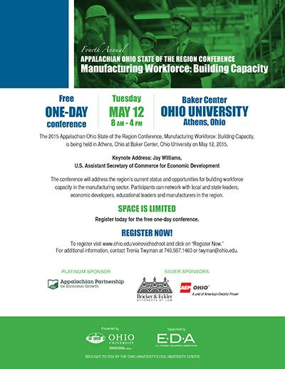 Last chance to register for the Appalachian OH State of the Region on May 12 at OHIO. Visit http://t.co/Dpu9Cvbg1h. http://t.co/9rhSrgglOA