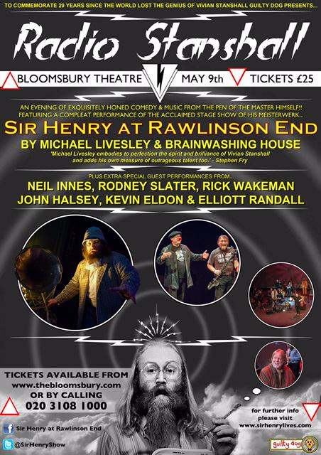On Saturday enjoy an all-star #VivianStanshall extravaganza with @SirHenryShow 1 night only! http://t.co/OAYoPVOYWZ — http://t.co/bsXN0xs2IP
