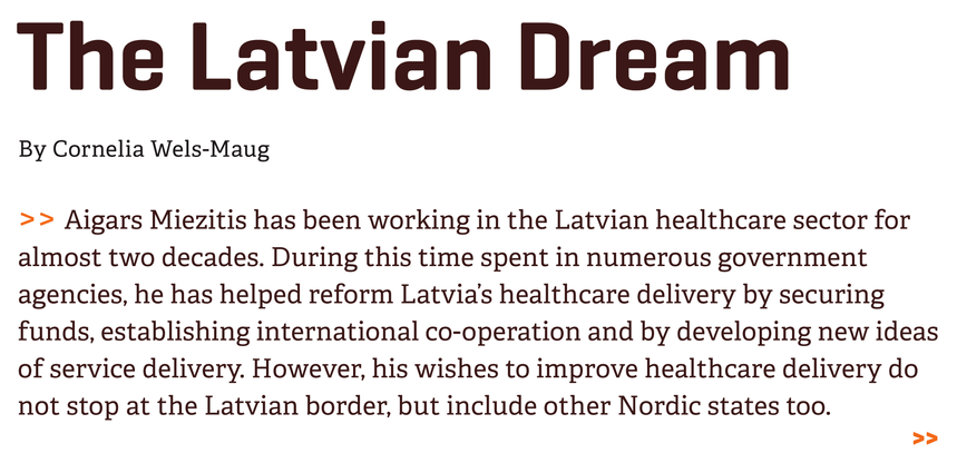 Don't miss the #Latvian dream #eHW15 @eHealthWeekEU @HealthITCentral > http://t.co/J9jpL4KC8l http://t.co/YWN7GVy82u