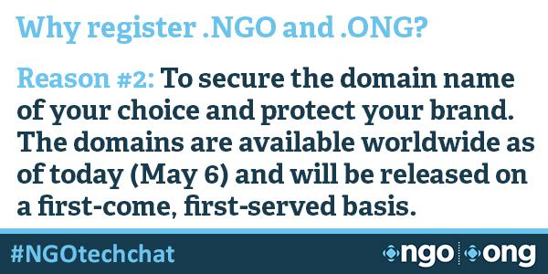 #NGOtechchat Why register .NGO and .ONG domains? http://t.co/0APreTvXsZ http://t.co/ySF1eFDwmP