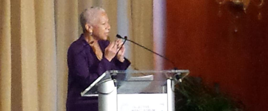 Listening to @policylink's Angela Glover Blackwell lead the address Equity Matters in #collectiveimpact http://t.co/RpYiaV9HdQ
