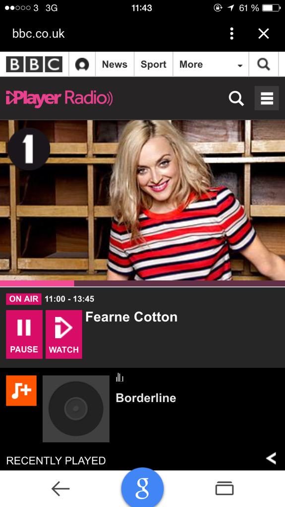 RT @andreasmoemusic: One of my biggest dreams just came true! Massive thanks to @Fearnecotton for playing my little song on @BBCR1!! Wow! h…