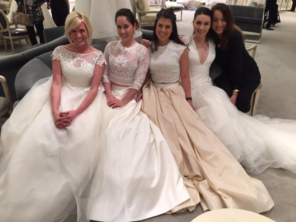 402f5ab8cdef My beautiful bridal consultants wearing Rivini at Kleinfeld bridal!pic. twitter.com InCTwnMG65