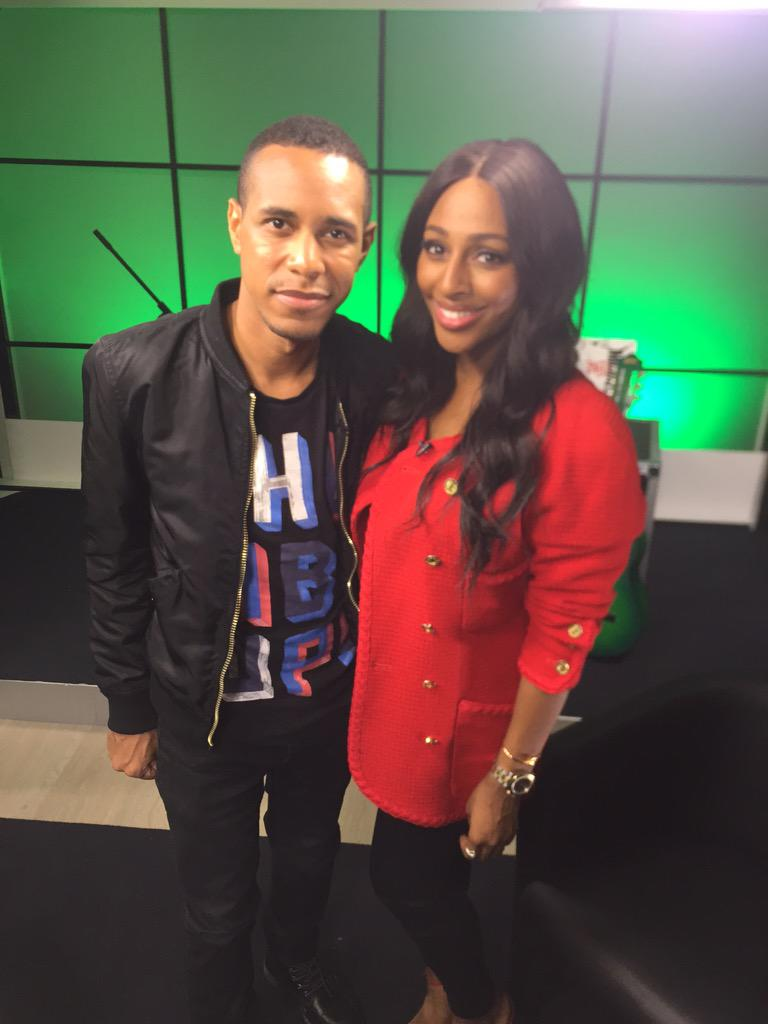 1st interview of the day done!With the lovely @emericskyrock !Lovely meeting you -Thank you for having me #RenegadeEP http://t.co/0X1Z3KLv9X