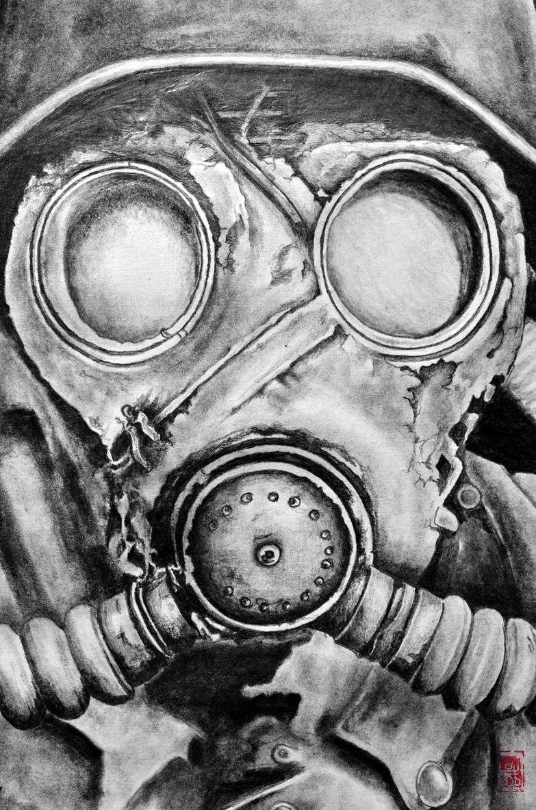 """Jakub DK on Twitter: """"Gas Mask #drawing by #pencil #art on ..."""