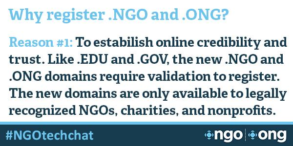 #NGOtechchat Why register .NGO and .ONG domains? http://t.co/0APreTvXsZ http://t.co/u8tNd7Z6OW