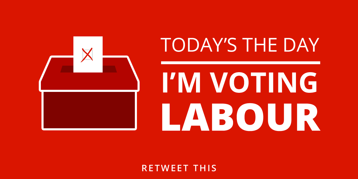 Happy Election Day, Britain! Share this if you're voting Labour today: http://t.co/pDWLCEwypb