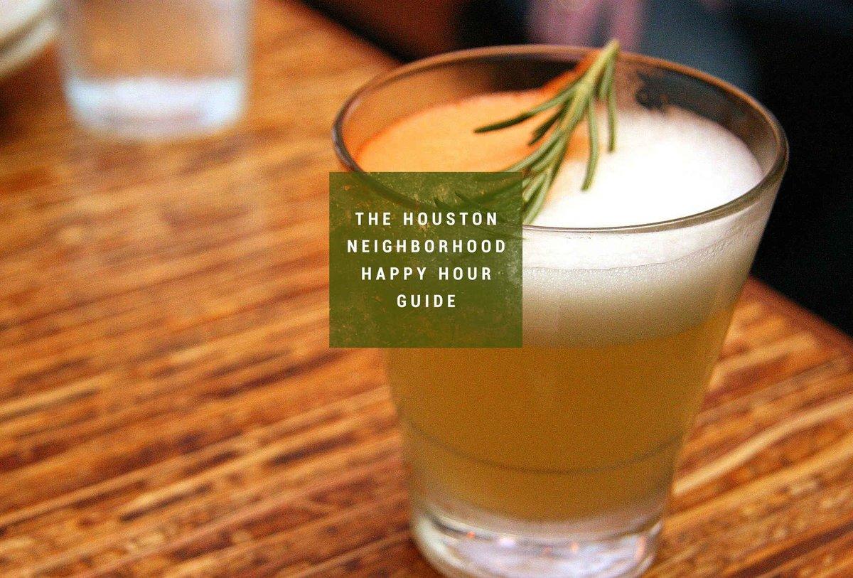 The Best Happy Hour in 17 Houston 'Hoods: http://t.co/4fSNaNQmxd http://t.co/xy4d4FeFDm