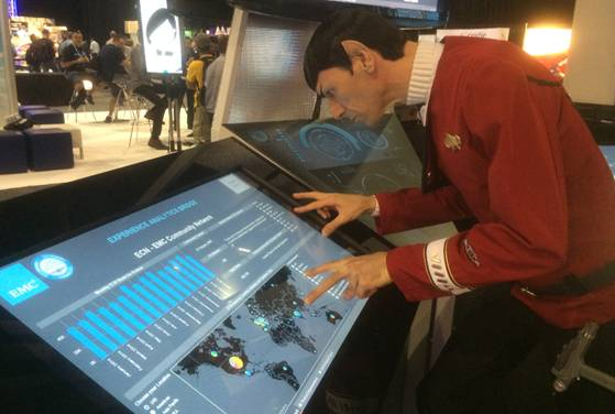 #EMCWORLD day 3!  Spock sees something interesting with the TCE data, stop by booth 463 to see what its about! #cx http://t.co/vQMYjv0m7d