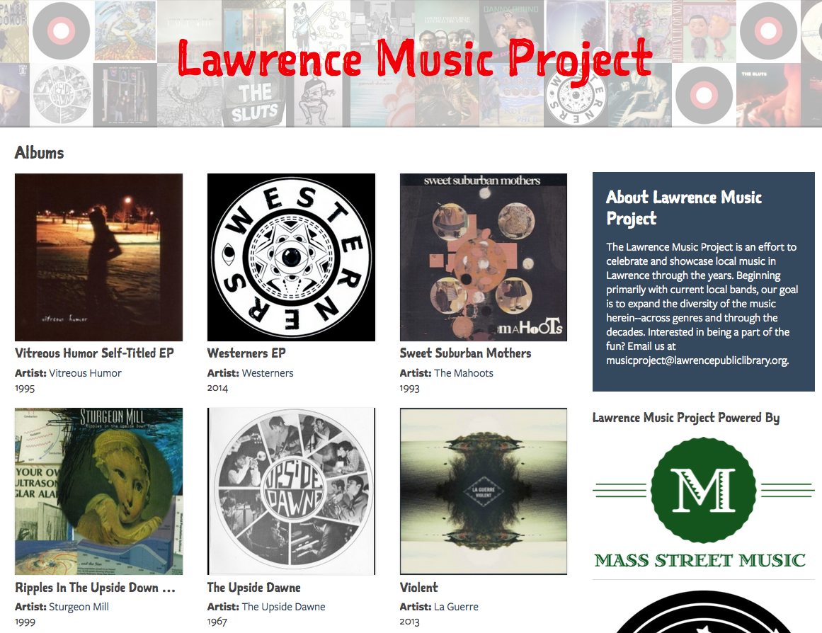 A new website lets @lawrencelibrary members download songs and albums by local musicians. http://t.co/MHfAa5EEwH http://t.co/GsoEg47Ckk