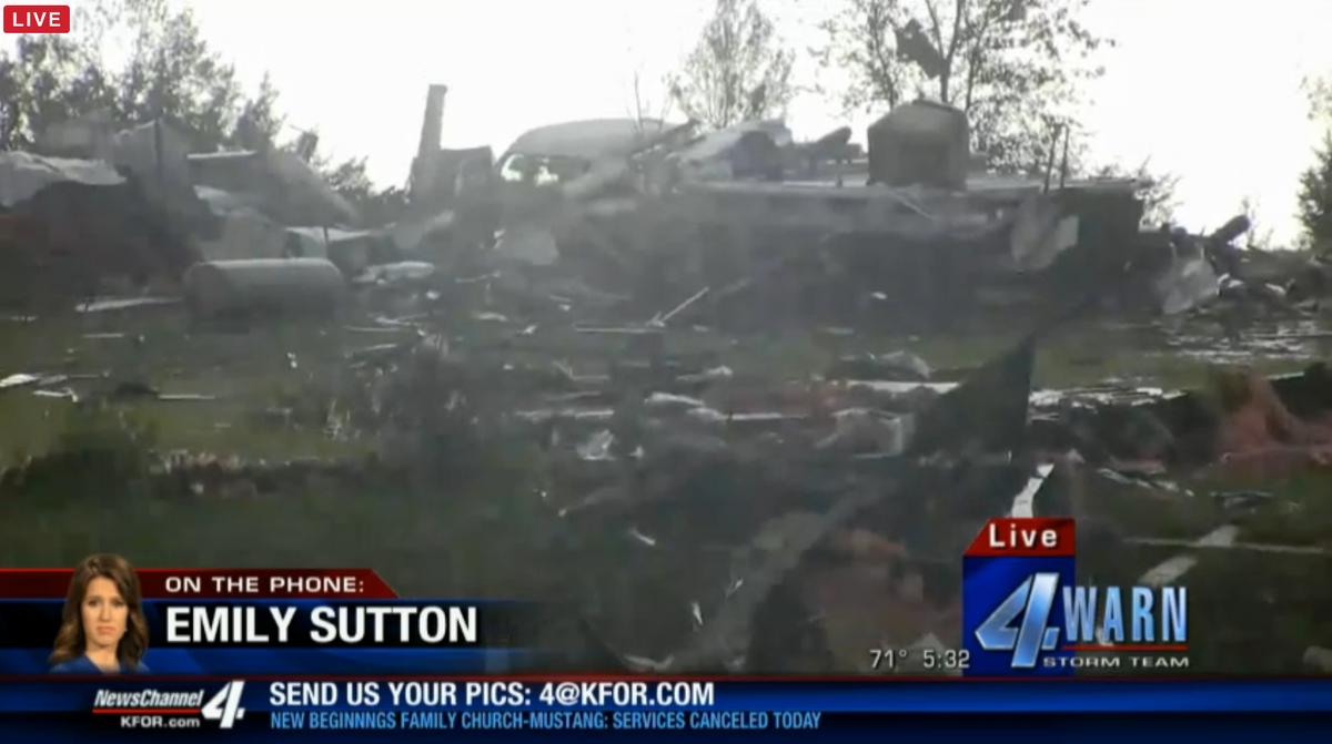 Bridge Creek Oklahoma : kfor live broadcast storm damage