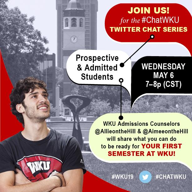 Tonight @ 7pm CDT @AllieOnTheHill and @aimeeonthehill will talk college prep in another #ChatWKU Twitter Chat! #WKU19 http://t.co/d7LPq1g3yv