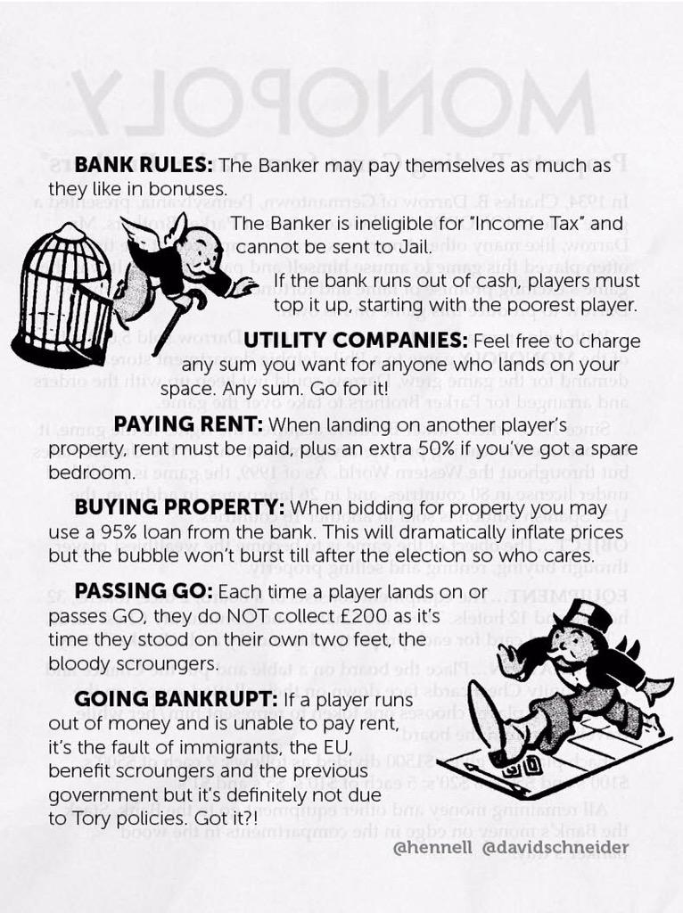An election reminder of the Tory update to the Monopoly rules.  (done with @hennell) http://t.co/4jtHQI1CVl