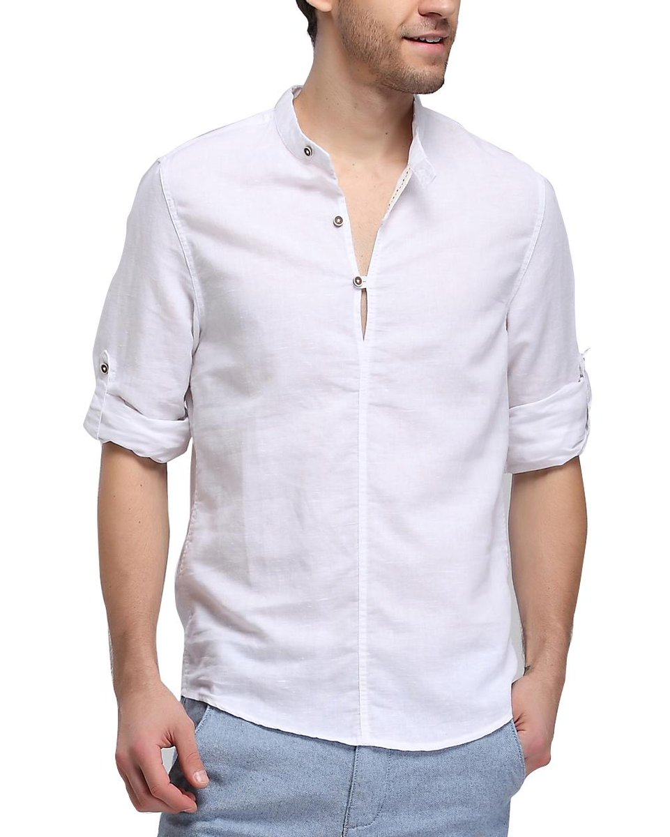 linen cotton long sleeve shirt