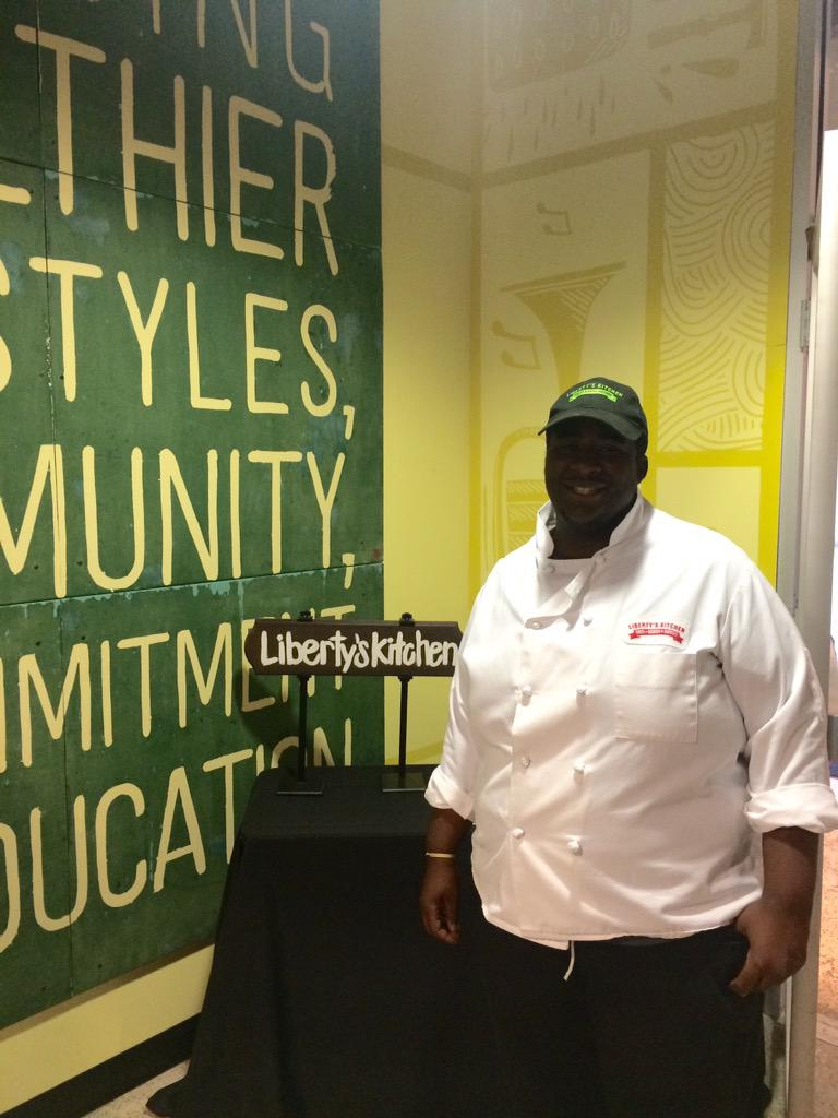 Special thanks to Liberty's Kitchen & The Refresh Project for hosting our Community Reception this evening #OYIF http://t.co/B5oE3LRdES