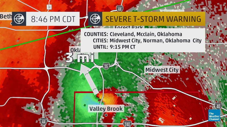 Breaking: #tornado debris signature about 3 mi s of downtown #okc
