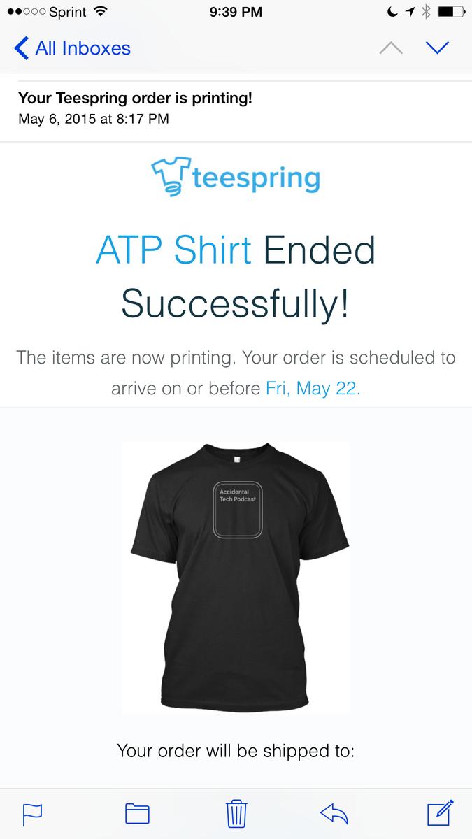 My @atpfm shirt will arrive May 22! #printing http://t.co/YDzu5jd2hk