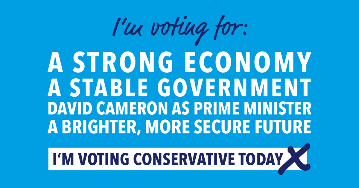 Vote Conservative today for a brighter, more secure future for Britain http://t.co/mjXgZ3Fao0 #VoteConservative
