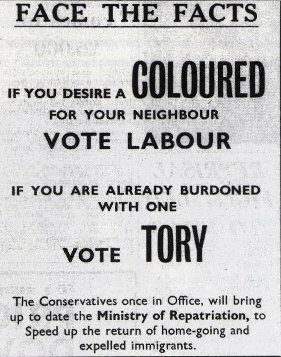 Conservative election leaflet, 1964 http://t.co/lgGL0a8Lm3
