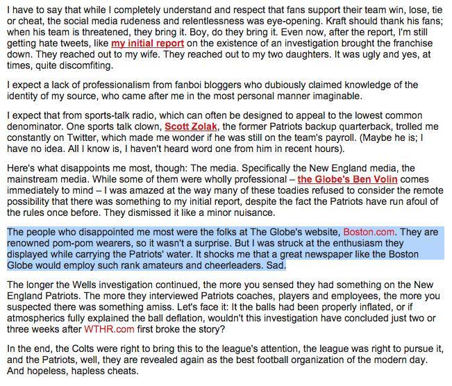 Indy's @bkravitz, who broke Deflategate, has words for Boston media. http://t.co/3OPIl3bAFt http://t.co/aaujFUzxuY