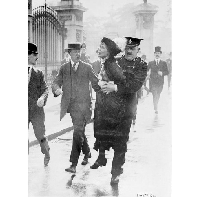 Today we think of Emmeline Pankhurst, and the thousands who fought for our rights, as we #vote in the #GE2015