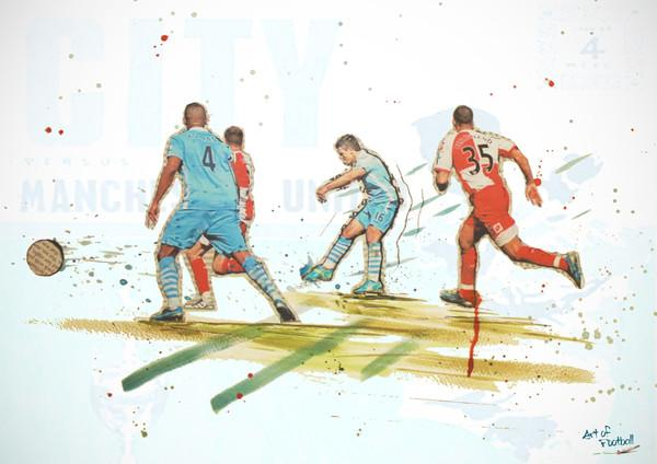 GIVEAWAY: Win this Aguero print from City v QPR! Simply RT and follow @viewfromablue. Winner selected at random Sat. http://t.co/Z4BMYkmbHx