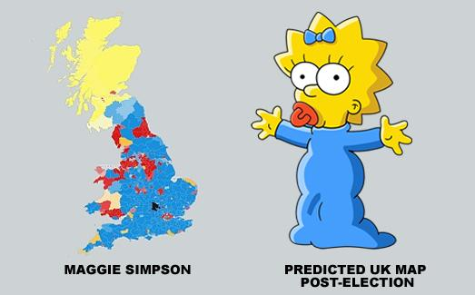 The UK political map now looks a lot like Maggie Simpson