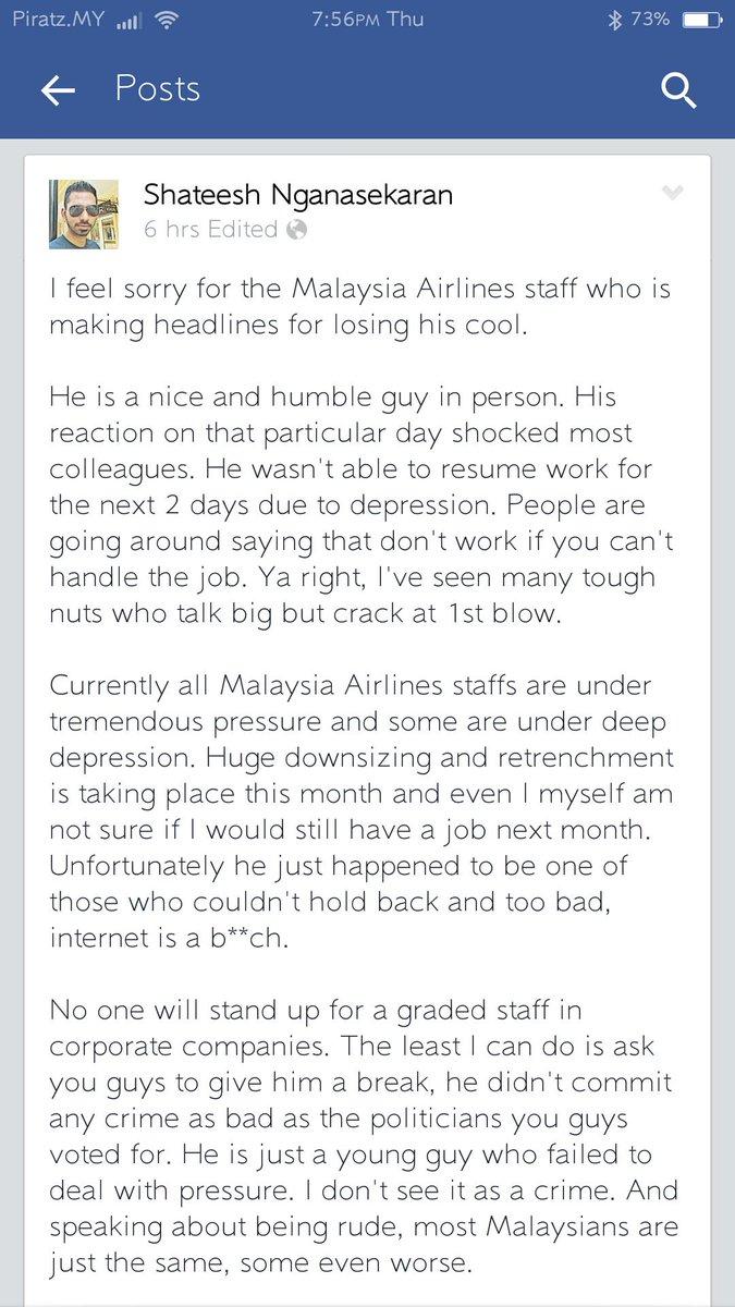 Luahan hati rakan sekerja aku. Well said bro.. http://t.co/SqbhbzIqqE