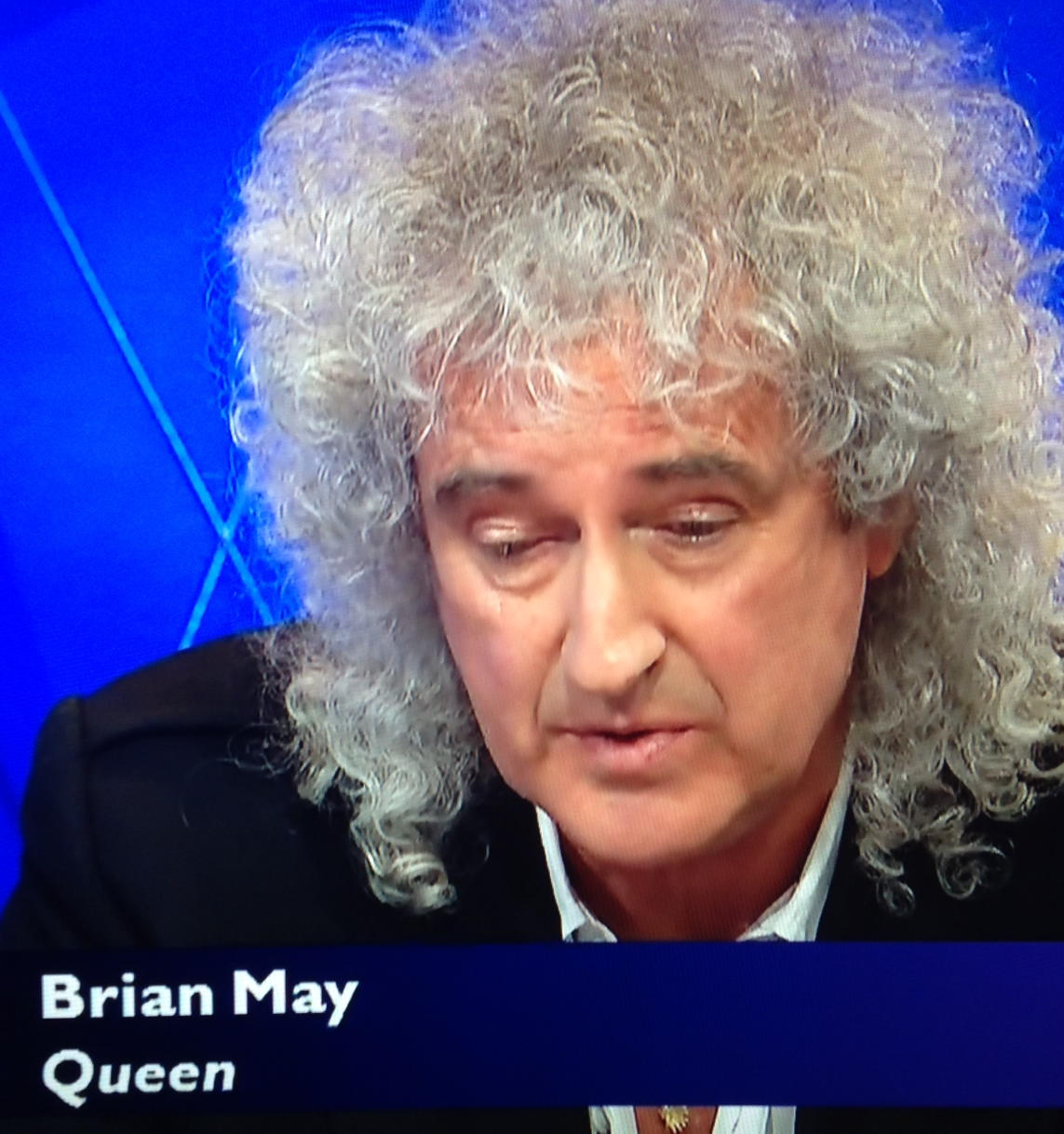 RT @TobyWoody: Anyone who didn't know that this bloke Brian May used to be in a band might be very confused by the caption  #bbcqt http://t…