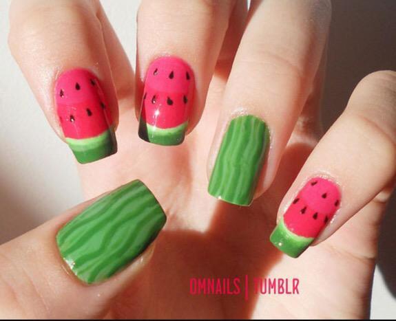 Nail Art Ideas On Twitter Fruity Summer Nails Watermelon Itsgoodtoshare Http T Co Kxdgutfmv4
