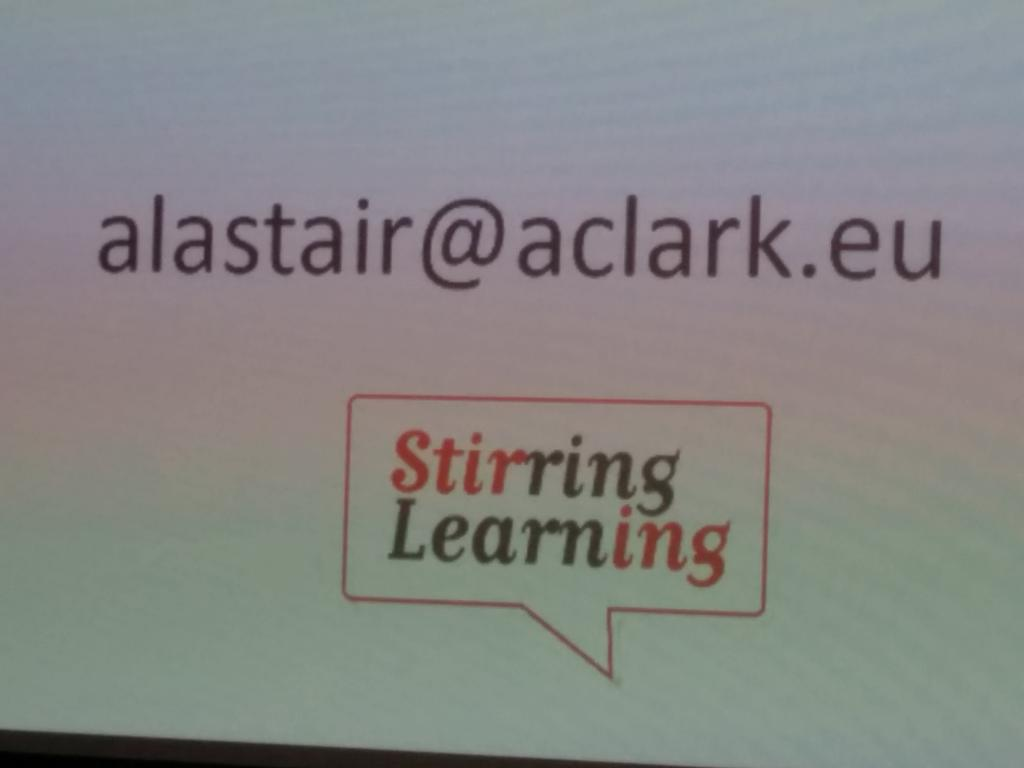 Alastair Clark stirring learning, presents on learning styles @GeekeasyDerby http://t.co/Z0dYzwXB7J