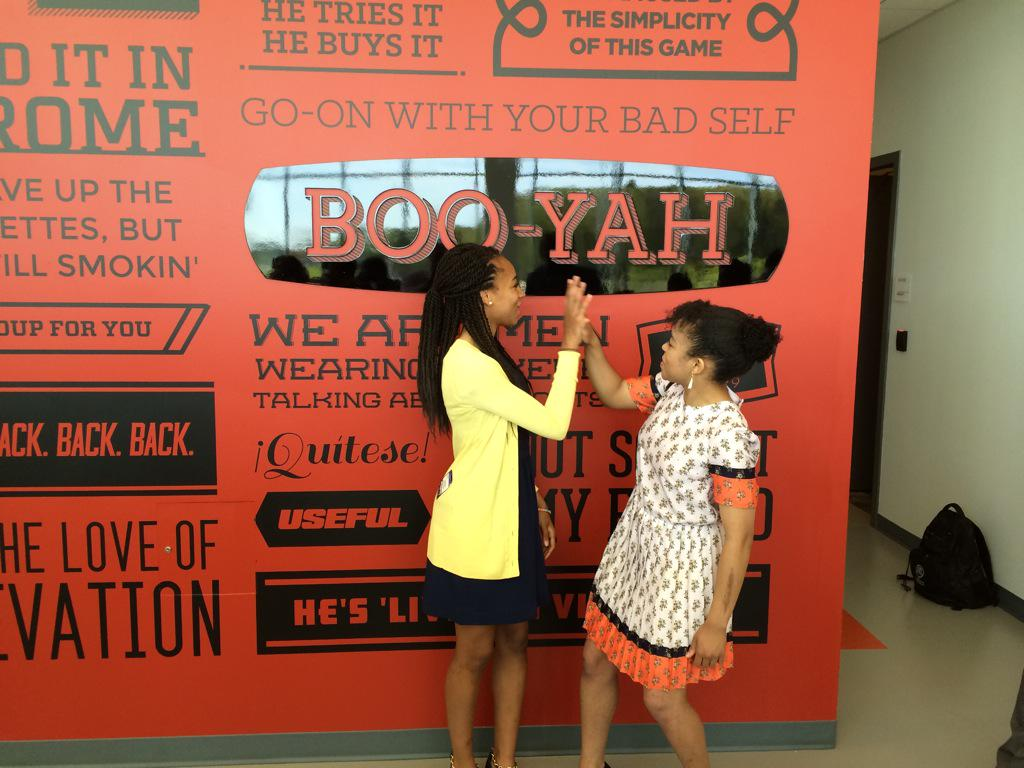 Wonderful moment. @TaeAndSyd, Stuart Scott's daughters celebrate dad's catch phrase, steps from @SportsCenter studio http://t.co/udPZobQThX
