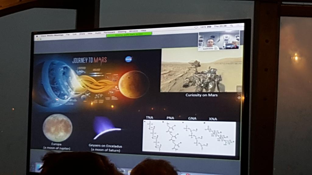 #NASA describes using MinION for exploring targets for life in our solar system #nanoporeconf http://t.co/G5AAWpOkSu